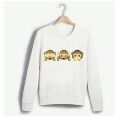 Womens Monkey Printing Sweater Cartoon Coat - Intl ราคา 349 บาท(-50%)