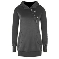 Womens Sports And Leisure Large Size Long Sleeve Sweater(dark Grey) - Intl ราคา 290 บาท(-50%)