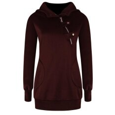 Womens Sports And Leisure Large Size Long Sleeve Sweater(wine Red) - Intl ราคา 290 บาท(-50%)