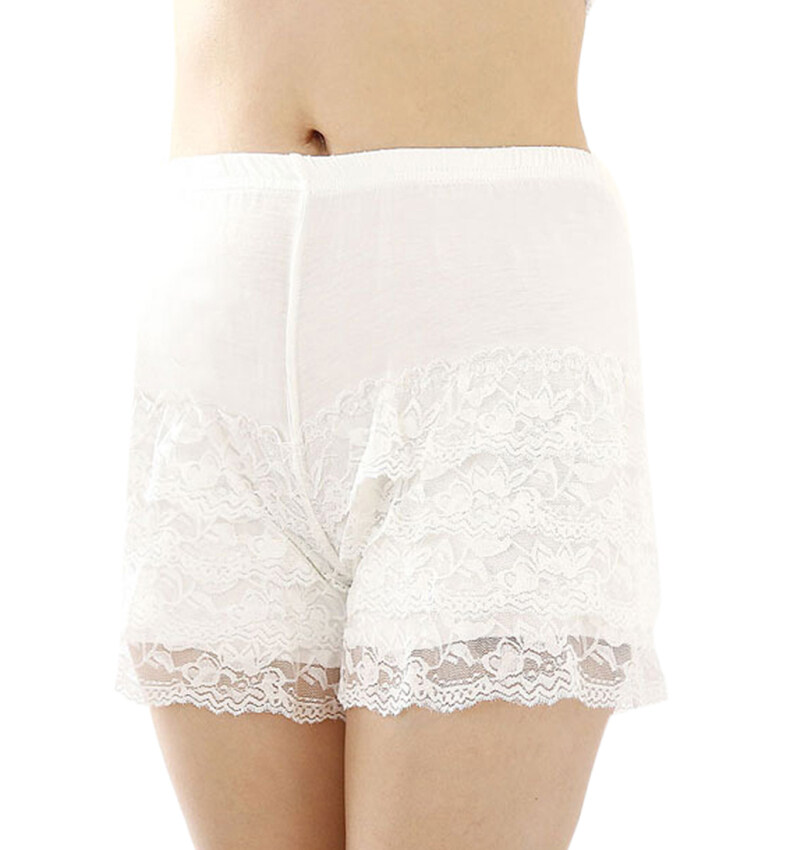 Womens Girls Lace Shorts Safety Briefs Boxers Leggings Basic Knickers Middle Waist Cotto ...