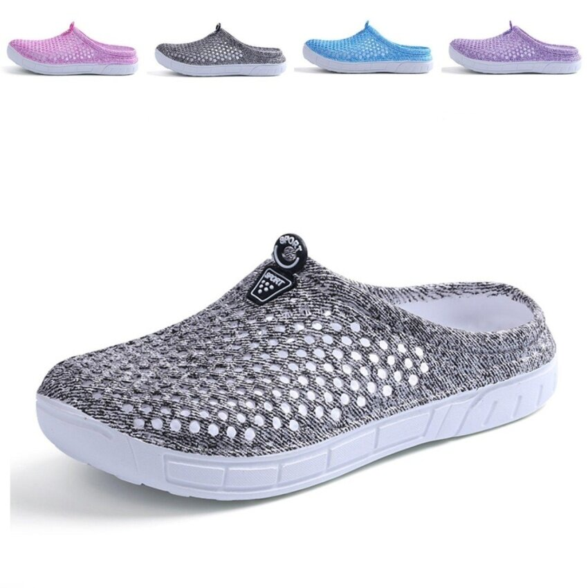 Womens Summer Breathable Mesh Sandals,slippers,Beach Footwear,Water Shoes,Walking,Anti-Slip,Garden Clog Shoes(grey) - intl