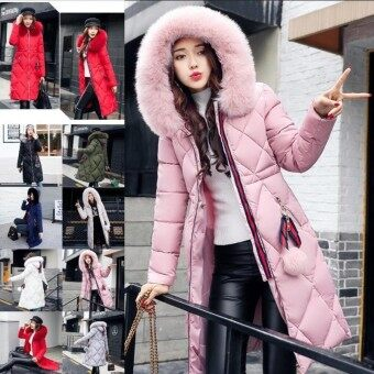Wonderful Power 8colors New Hot SALE ladies cotton clothing women down jacket women long sleeves coat autumn and winter cotton clothing -Grey-Int:L - intl