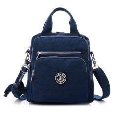 wonderful story กระเป๋า กระเป๋าสะพายข้าง กระเป๋าเป้ผ้าไนลอน JQ - (Blue)