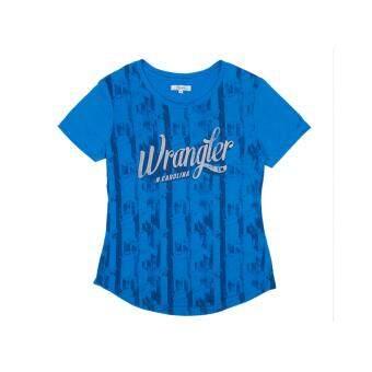 Wrangler เสื้อยืดแขนสั้น รุ่น WR W672S205 สีน้ำเงิน