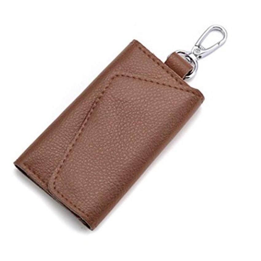 รีวิว YingWei Leather Multifunction Key Chain Ring Hooks Holder Cover Case Purse Keychain (Coffee) – intl ขายดี