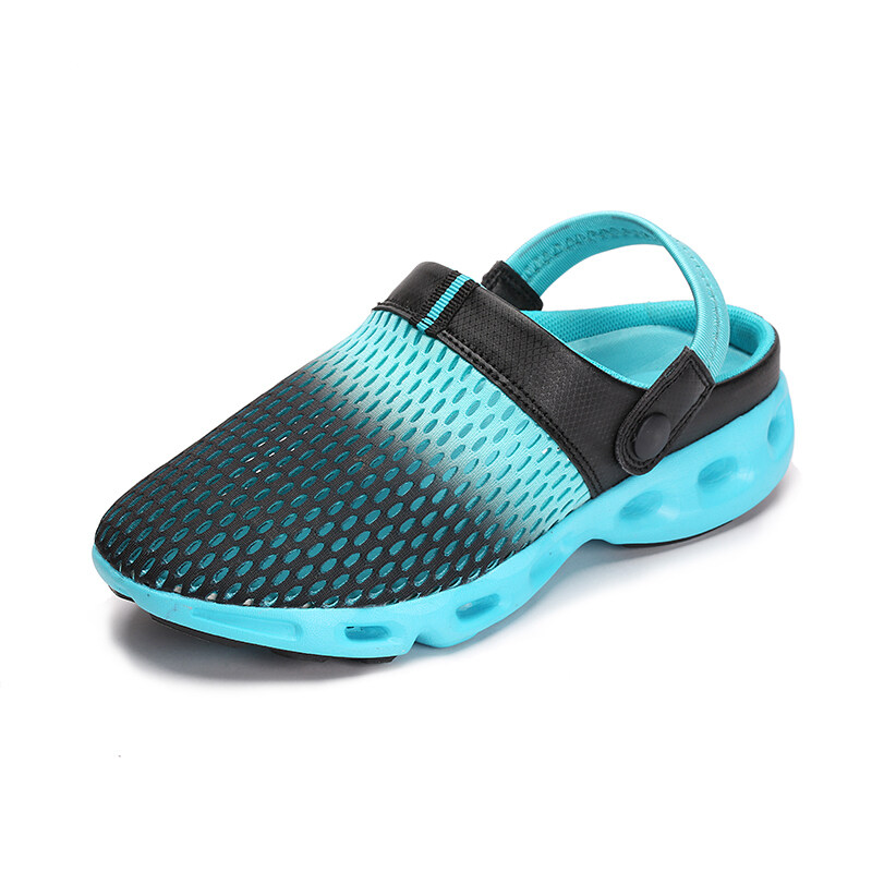 ZHAIZUBULUO Women Flat Mesh Beach Shoes Sandals ZJW-303(Blue) ...