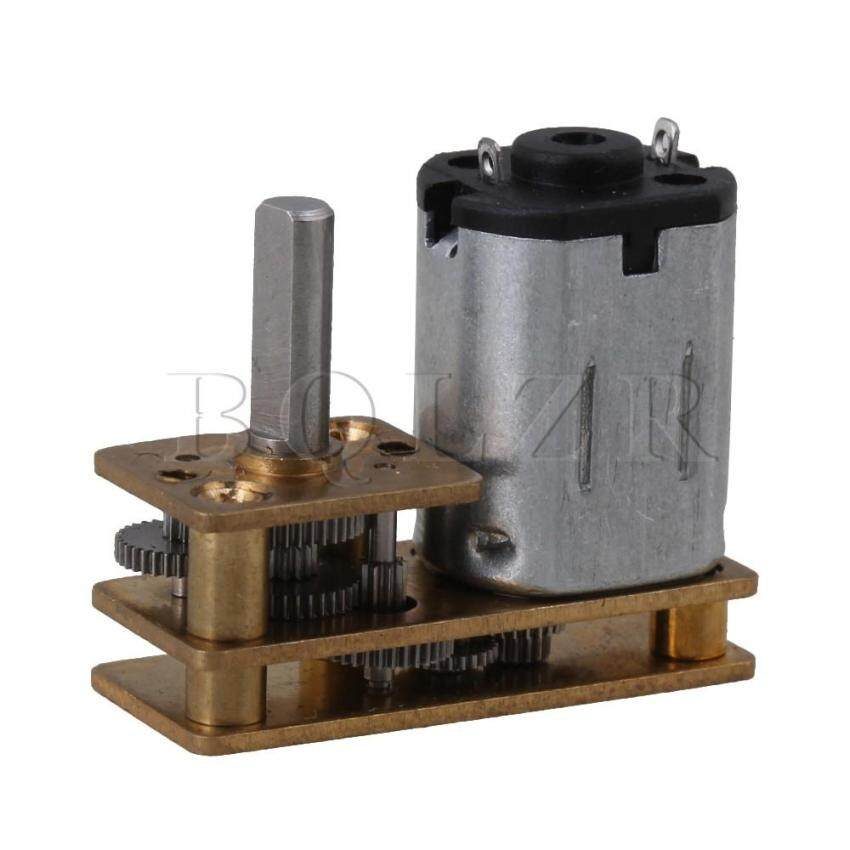 10mm DC 6V 30RPM GM12-N20 Micro Electric DC Gear Box Motor Silver Gold - intl