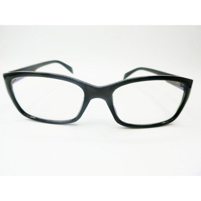 แว่นสายตา แว่นสายตายาว พร้อมกรองแสงคอม ทรงสี่เหลี่ยม รุ่น 1287 J1 ค่าสายตา +200 (Black) ...