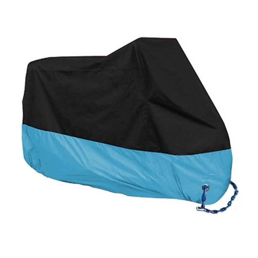 190T Waterproof Motocycle Cover Bike Motorbike Outdoor Rain UV Protector 230CM XL Blue - intl