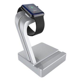 2 in 1 Aluminium Charging Stand for Apple Watch and iPhone (silver)