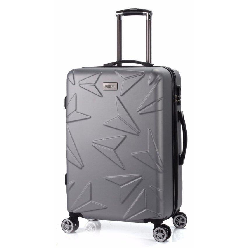 กระเป๋าเดินทางล้อลาก แบรนด์เกาหลี 24 นิ้ว ลายเครื่องบิล สีเทา Famouse Korea Luggage Brand+Airplane Shape+24 Inch+gray Color ...