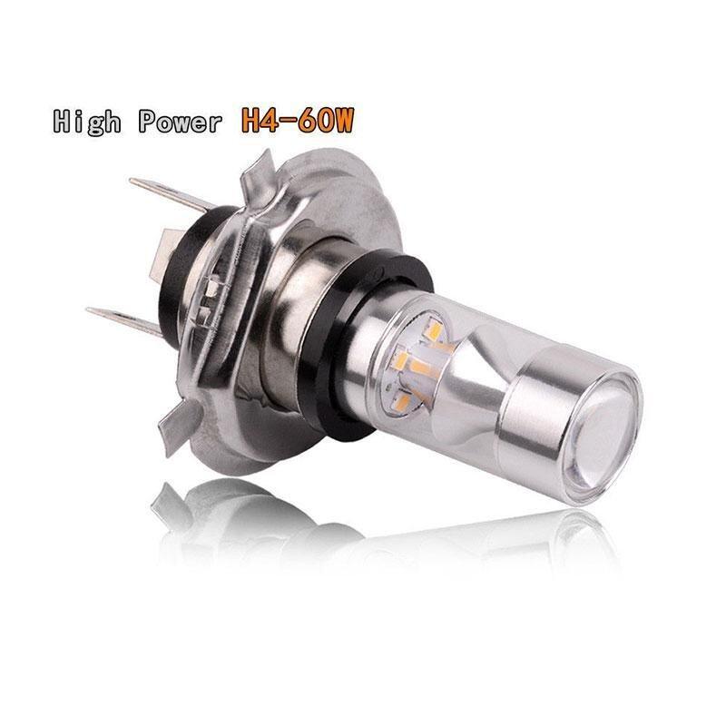 2Pcs H4 HB2 SMD2323 Auto Car Vehicle LED Fog Light Bulb Lamp Universal .