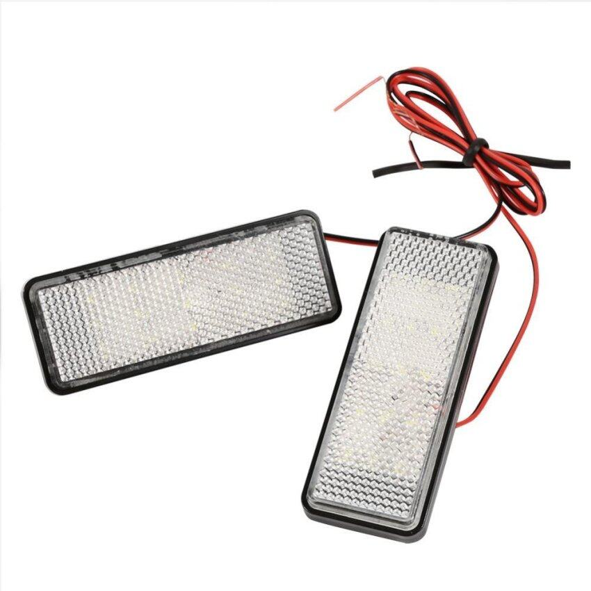 2Pcs LED Rectangle Strobe Reflector Motorcycle Car Tail Brake Turn Signal Light Lamp(Red ...