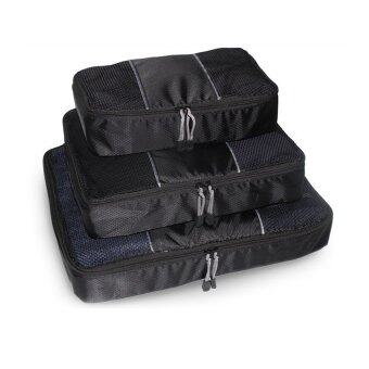 3 In 1 Waterproof Clothes Storage Bags Packing Cubetravel Luggage Organizer Bag (Black) - Intl