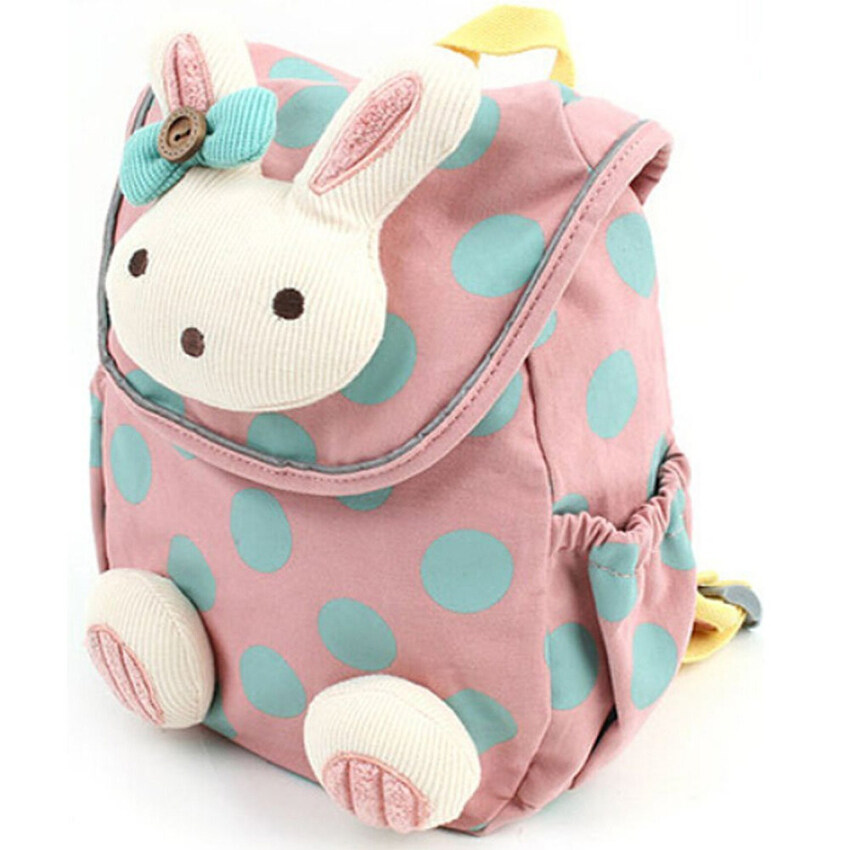 3D กระต่ายสัตว์กันไปเด็ก ๆ วัยเรียนกระเป๋าเป้กระเป๋าสีชมพู ...