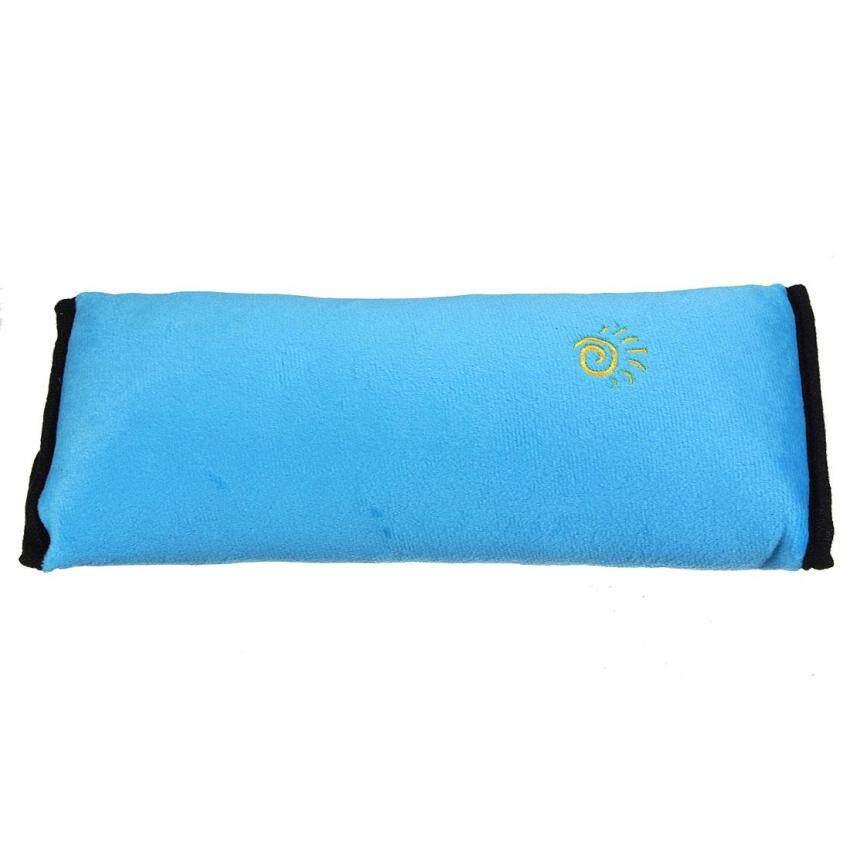 3PCS Car Seat Belt Cover Cushion Shoulder Harness Pad Soft Sleep Pillow Blue - intl