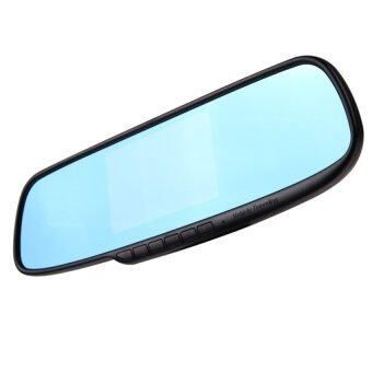 "4.3"" Video Recorder Dash Cam Rearview Mirror Car Camera DVR- Intl"