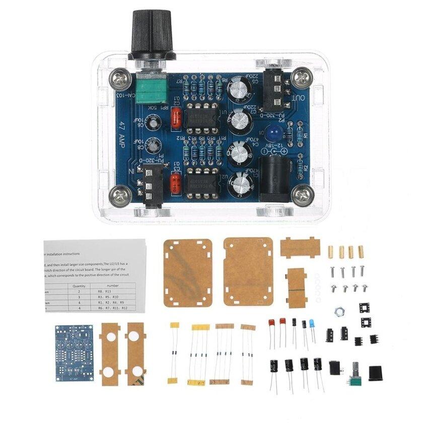 47 Amp DIY NE5532 Hi-Fi Headphone Amplifier Kit with Transparent Housing DC9V-18V - intl