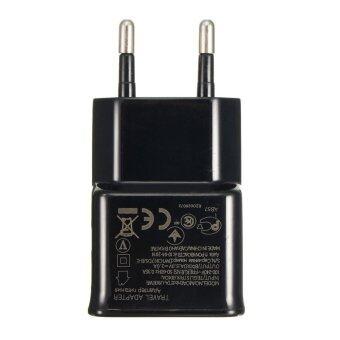 ปลั๊ก 5โวลต์ 2 amps ยูเอสบีอะแดปเตอร์ชาร์จพลังงานสองข้างสำหรับ iPhone 6s Samsung S5/6 อียูสีดำ