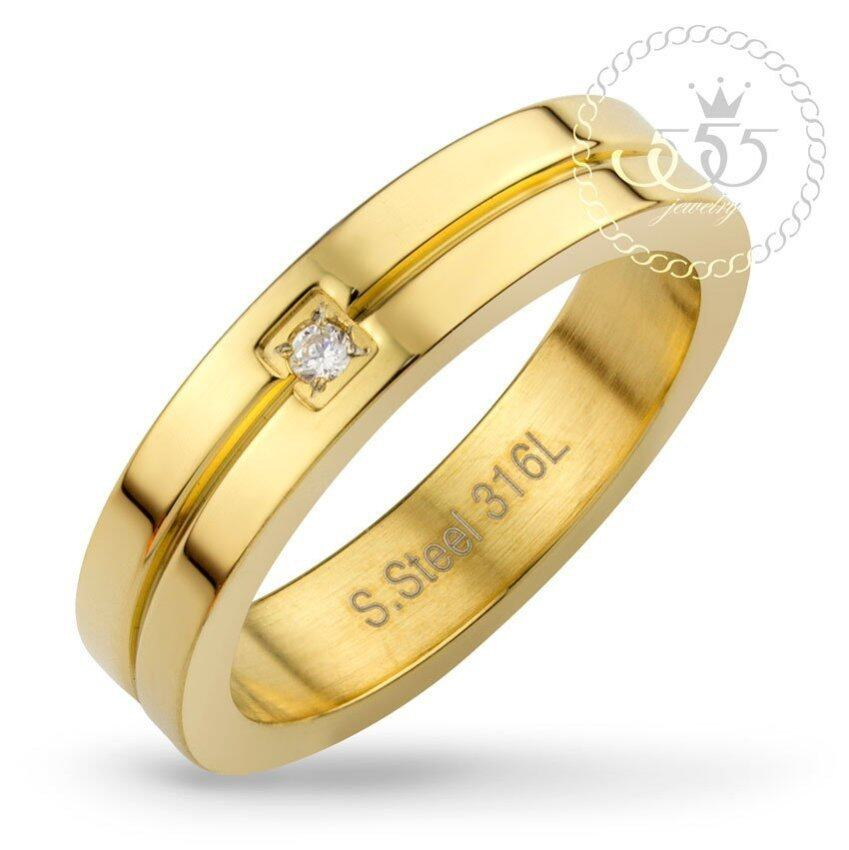 555jewelry แหวน รุ่น MNC-R562-B (Yellow Gold) ...