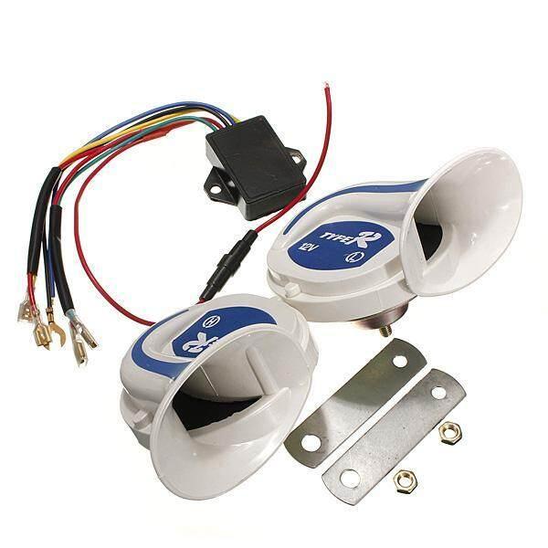 5PCS 12V Electric Digital Siren Snail Loud 115DB Air Horns 18 Kind Sound Car Van Boat - intl