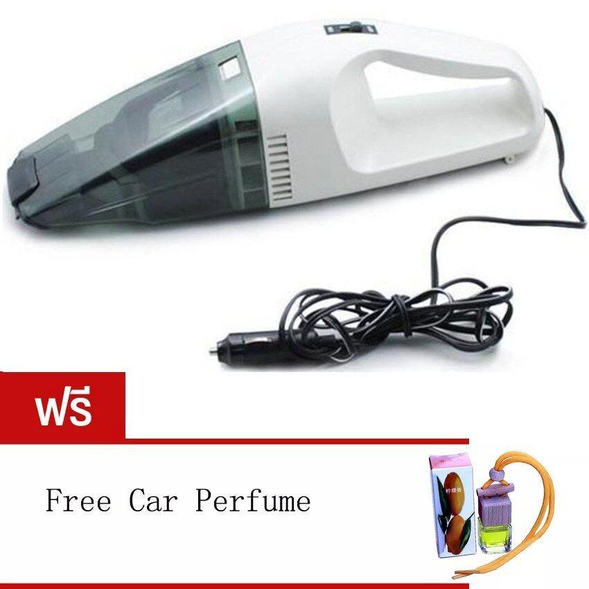 60W Wet and dry Portable Car Vacuum Cleaner เครื่องดูดฝุ่นในรถยนต์ (Black/White) Free Ca ...