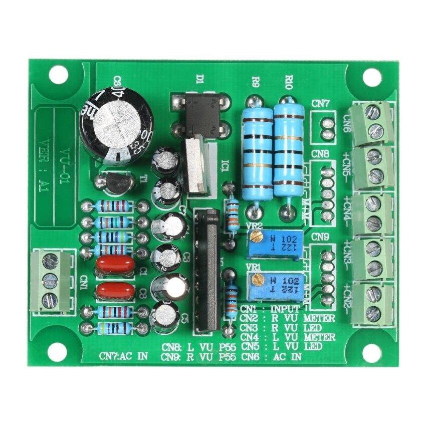 AC 12V Stereo VU Meter Driver Board Amplifier DB Audio Level Module - intl