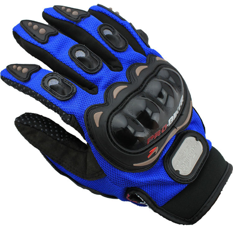 Authentic motorcycle racing gloves Refers to all the four seasons ride motorcycle gloves Size XL (Blue)
