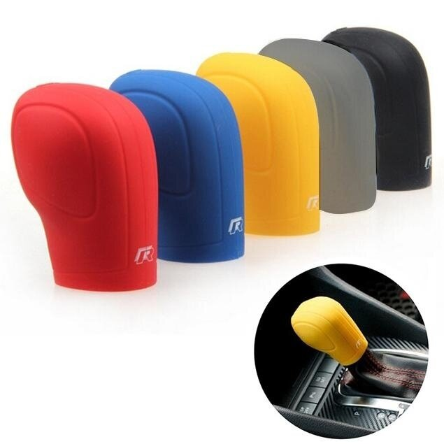 Auto Car Vehicle Soft Silicone Gear Shift Knob Grip Cover Protector for VW - intl