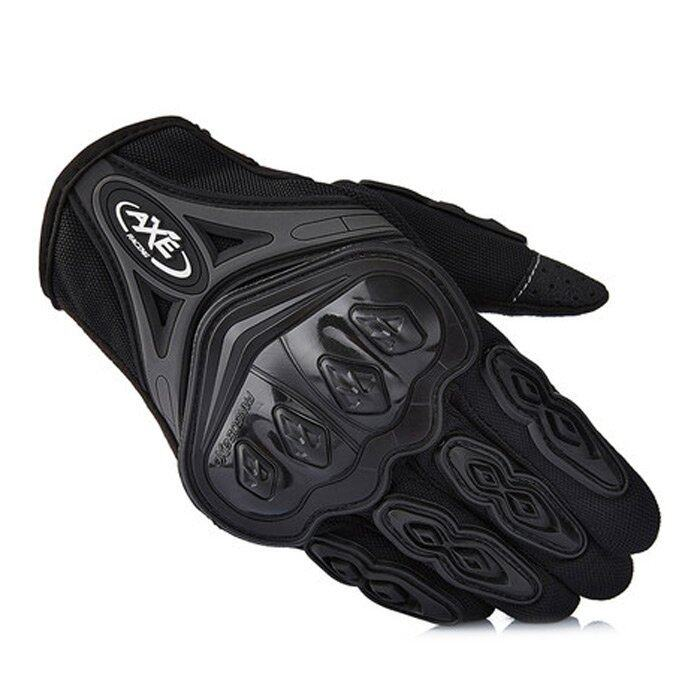 AXE ST-07 Motorcycle Cross-Country Racing Bicycle Riding Protective Gloves Touch Screen Gloves - XL (Black)