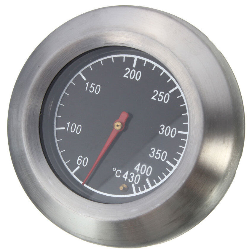 Barbecue BBQ Smoker Grill Stainless Steel Thermometer Temperature Gauge 60-430℃ ...