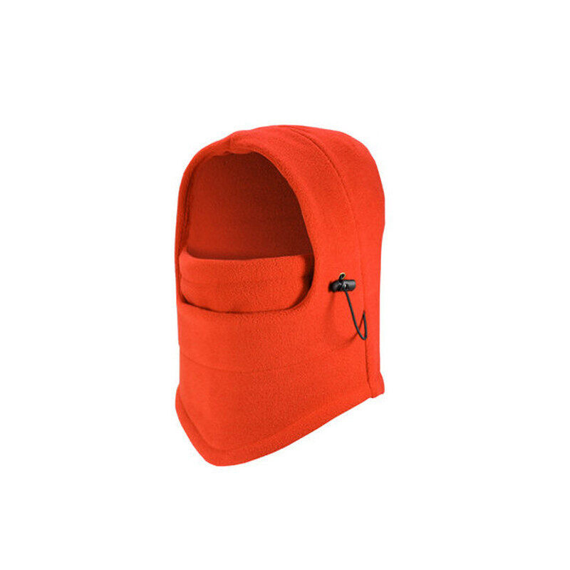 Bicycle Full Face Mask Hat Caps Motorcycle Outdoor Mask Ski Windproof Protective Mask Orange