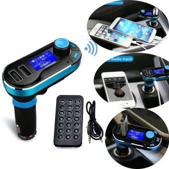 Bluetooth MP3 Player Wireless FM Transmitter Hands-free Car Kit Charger With Remote Controller