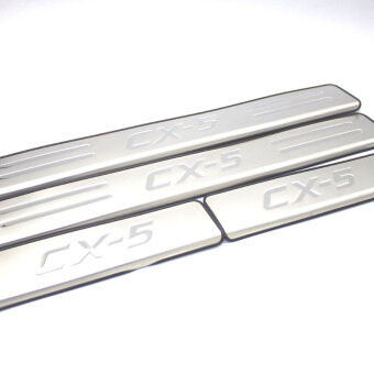 Car Stainless Steel Door Sill Scuff Plate Cover/Welcome Pedal Trim for 2012-2016 MAZDA CX-5