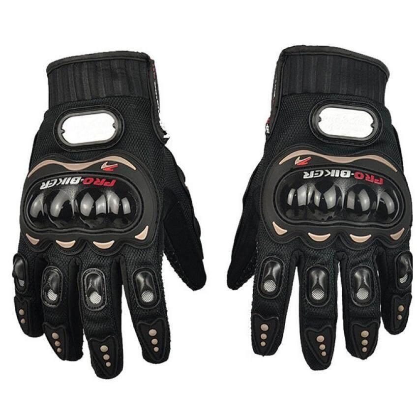 Carbon Fiber Motorcycle Racing Full Finger Gloves (Intl) - intl