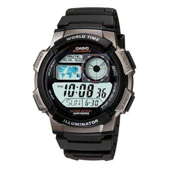 Casio นาฬิกาผู้ชาย สีเทา สายเรซิน รุ่น AE-1000W-1BVDF