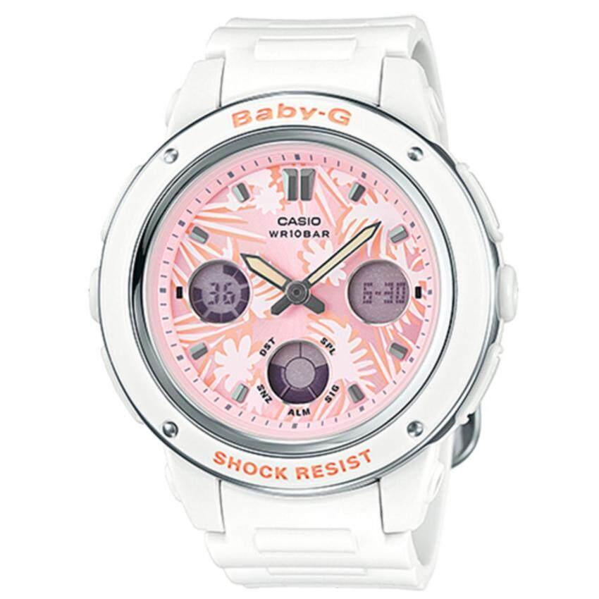 Casio Baby-G นาฬิกาข้อมือผู้หญิง สายเรซิ่น รุ่น BGA-150F-7A - สีขาว