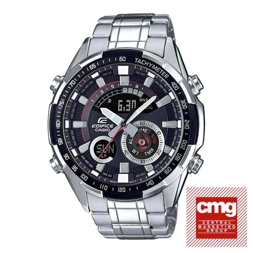 ด่วน Casio Edifice นาฬิกาข้อมือสุภาพบุรุษ 2 ระบบ สายแสตนเลส รุ่นERA-600D-1AVUDF (ประกันศูนย์เซ็นทรัล1ปี) กำลังลดราคา
