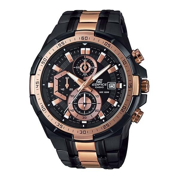 ด่วน Casio Edifice นาฬิกาข้อมือสุภาพบุรุษ สายสเตนเลส รุ่นEFR-539BKG-1AVUDF - สีดำ กำลังลดราคา