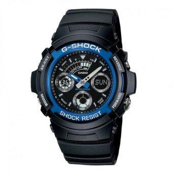 Casio G-Shock นาฬิกาข้อมือผู้ชาย สีดำ สายเรซิ่น รุ่น AW-591-2