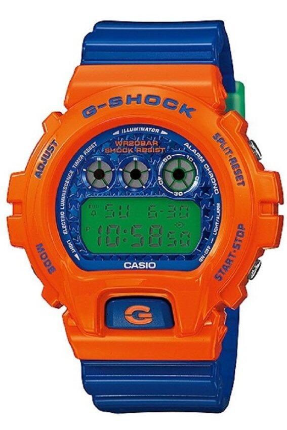 Casio G-Shock นาฬิกาข้อมือ สายเรซิ่น รุ่น DW-6900SC-4DR - Blue/Orange