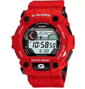 Casio G-shock นาฬิกาข้อมือ สีแดง สายเรซิน รุ่น G-7900A-4DR