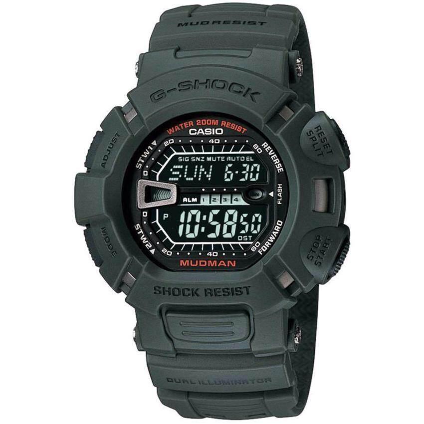 Casio G-Shock นาฬิกาข้อมือบุรุษ สายเรซั่น รุ่น G-9000-3VDR (Green)
