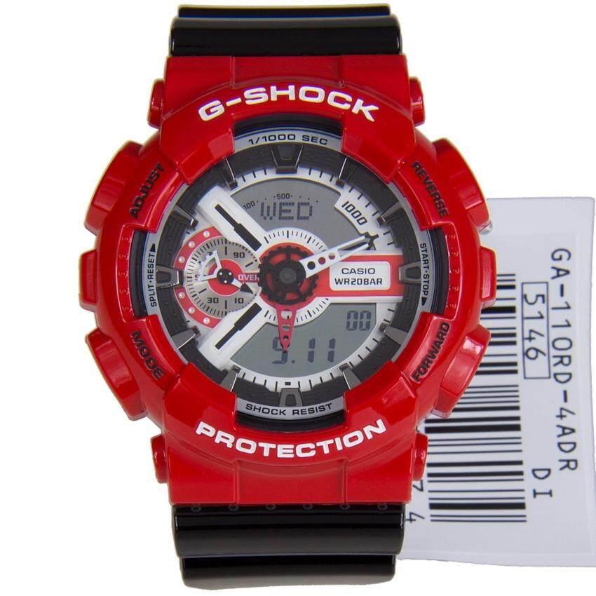 Casio G-shock นาฬิกาข้อมือผู้ชาย สีแดง สายเรซิ่น รุ่น GA-110RD-4ADR