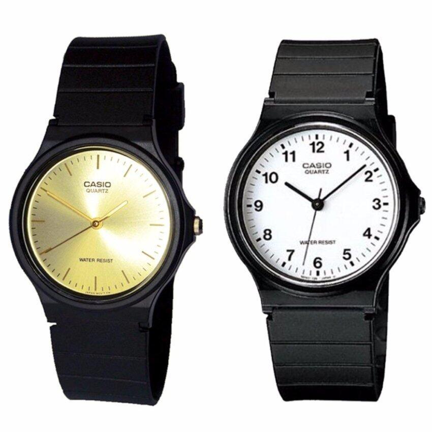รีบเลย Casio นาฬิกาข้อมือผู้ชาย สีดำ สายเรซิ่น รุ่น MQ-24-7B และ MQ-24-9Eแพ็คคู่ ลดราคา