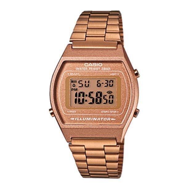 Casio Standard นาฬิกาข้อมือผู้หญิงสายสเตนเลส พิงค์โกลด์ รุ่น B-640WC-5A ...