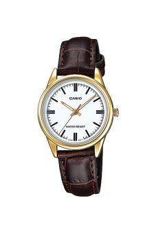 Casio Standard นาฬิกาข้อมือสุภาพสตรี สายหนัง รุ่น LTP-V005GL-7AUDF - สีน้ำตาล