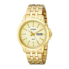 Citizen Mens BF2013-56P Gold-Tone Stainless Steel Bracelet Watch - intl