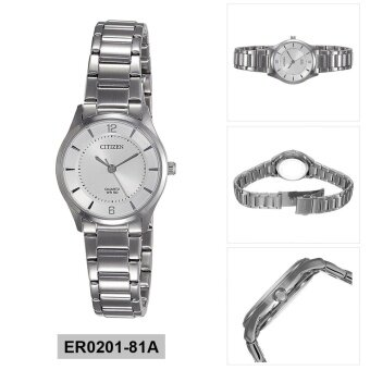 Citizen Watch Quartz Silver Stainless-Steel Case Stainless-Steel Bracelet Ladies NWT + Warranty ER0201-81A