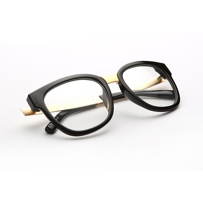 Classic Vintage Style Unisex Squared Simple Clear Lens Fashion Glasses(color3)